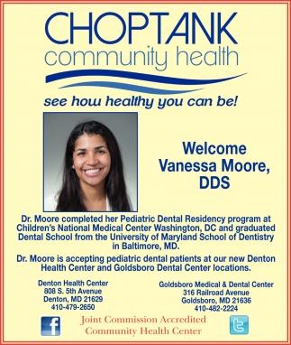 Welcome Vanessa Moore, DDS