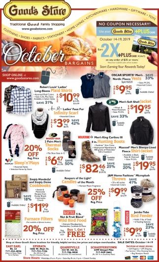 October Bargains
