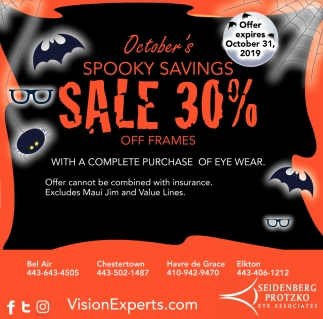 October's Spooky Savings Sale 30%