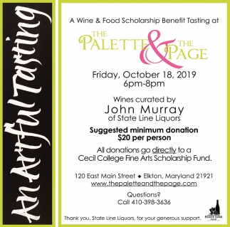 Wine & Food Scholarship Benefit