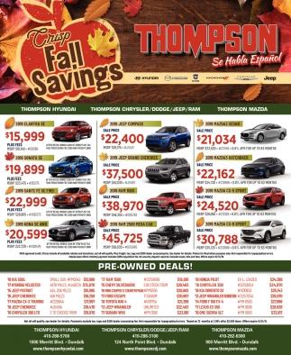 Crisp Fall Savings