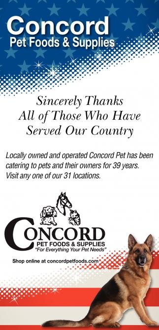 Pet Foods & Supplies