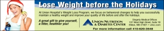 Lose Weight Before the Holidays