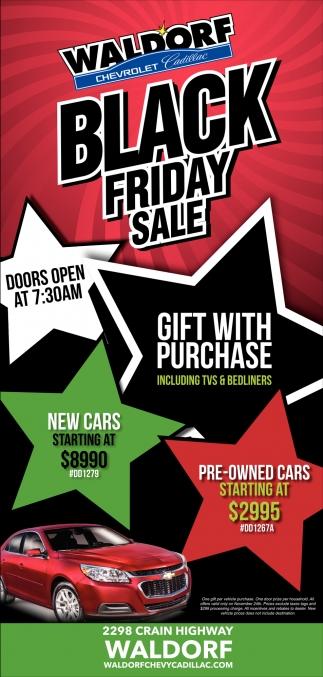Black Friday Sale!, Waldorf Chevrolet Cadillac