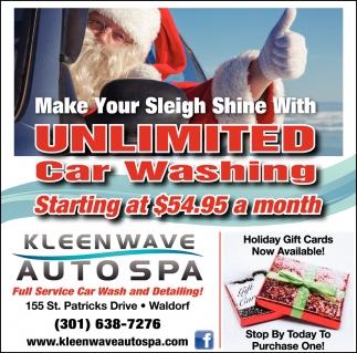 Unlimited Car Washing