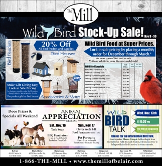 Wild Bird Stock-Up Sale!