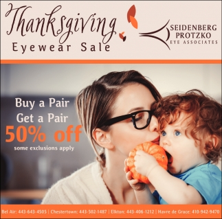 Thanksgiving Eyewear Sale