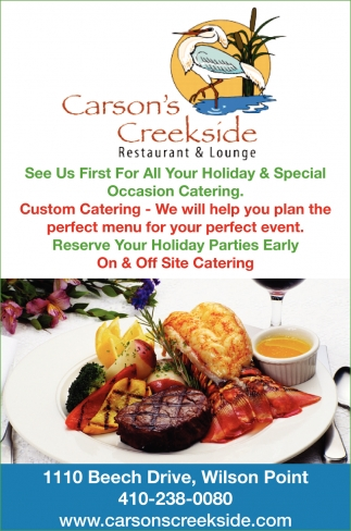 See Us First For All Your Holiday & Special Occasion Catering