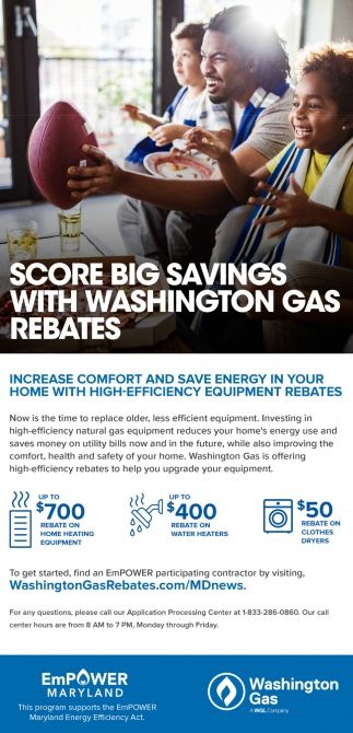 Score Big Savings With Washinton Gas Rebates