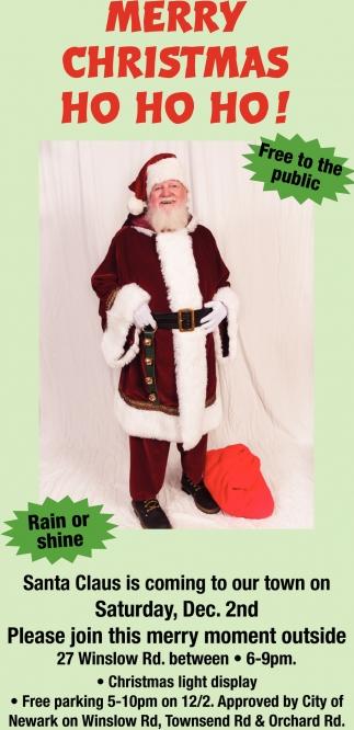 Merry Christmas Ho Ho Ho!, City of Newmark