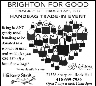 Brighton for good, the Hickory Stick A Vintage Boutique