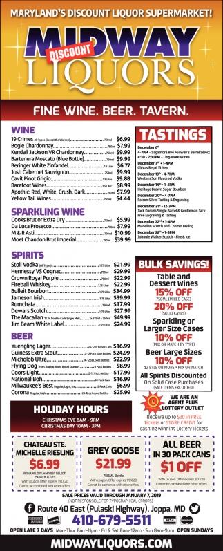 Fine Wine. Beer. Tavern