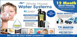 We can fix your water problems!