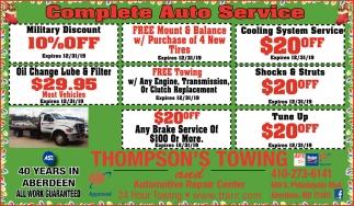 Complete Auto Service