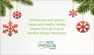 Wishing You and Yours a Happy and Healthy Holiday