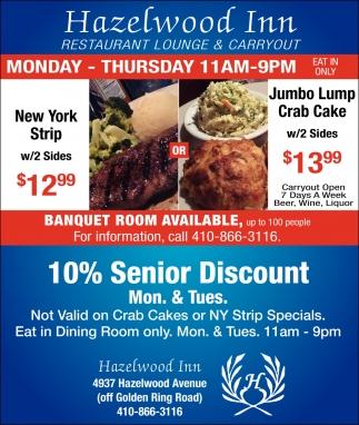 10% Senior Discount