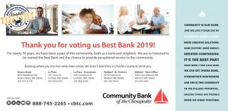 Best Bank 2019