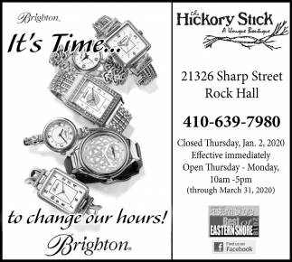 It's Time... To Change Our Hours