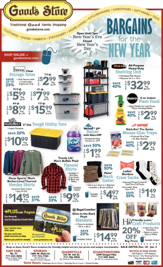 Bargains for the New Year