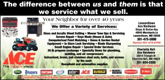 The Difference Between Us and Them is that We Service what We Sell