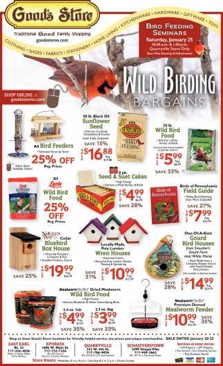 Wild Birding Bargains