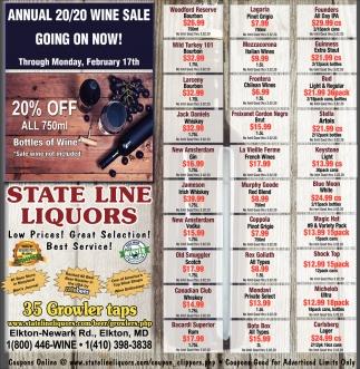 Annual 20/20 Wine Sale