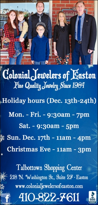 Colonial Jewelers Of Easton