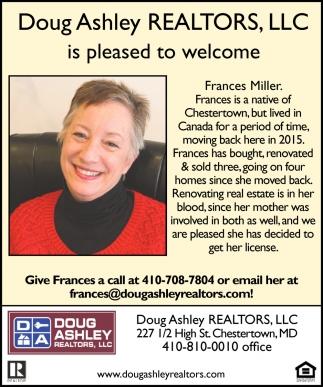 Welcome Frances Miller