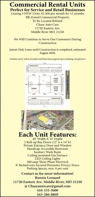 Commercial Rental Units