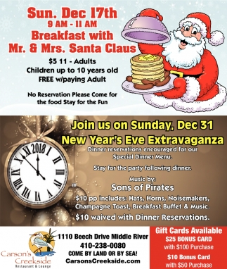 Breakfast With Mr. & Mrs. Santa Claus
