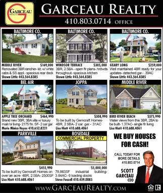 We Houses For Cash Garceau Realty