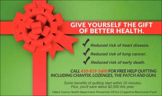 Give Yourself The Gift Of Better Health