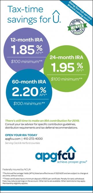 Tax-Time Savings for U