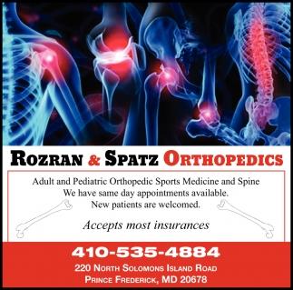 Adult and Pediatric Orthipedic Sports Medicine