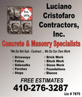 Concrete & Masonry Specialists