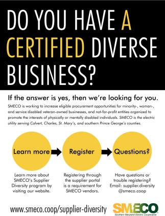 Do You Have A Certified Diverse Business?
