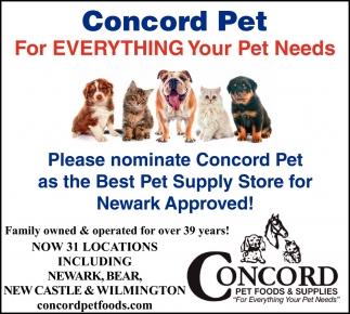 Please Nominate Concord Pet