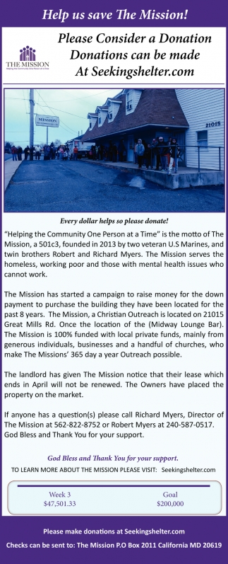 Help Us Save The Mission