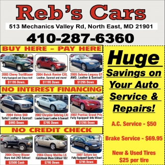 Buy Here Pay Here Md >> Buy Here Pay Here Reb S Cars
