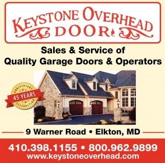 Sales & Service of Quality Garage Doors & Operators