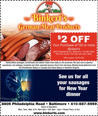 German Meat Products