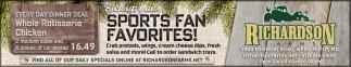 Sports Fan Favorites!