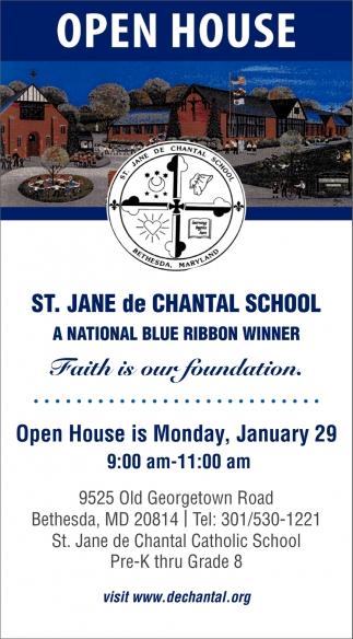 Open House, St  Jane de Chantal School
