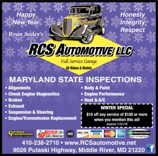 Maryland State Inspections