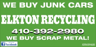 We Buy Junk Cars, Elkton Recycling