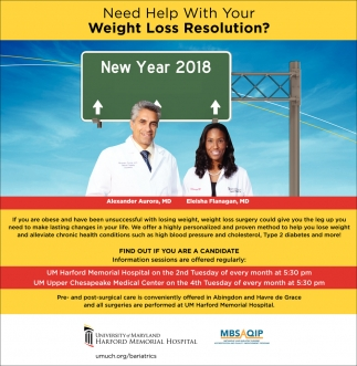 Weight Loss Um Harford Memorial Hospital