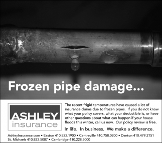 Frozen Pipe Damage