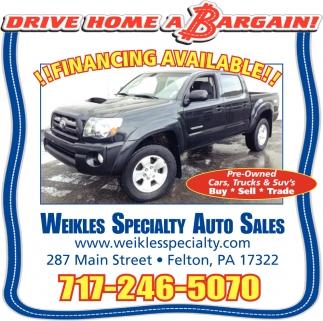 Drive Home A Bargain