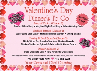 Valentines Day Dinners To Go