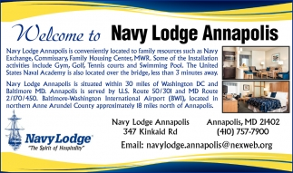 Welcome to Navy Lodge Annapolis